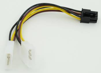 Кабель Molex 8980/PCI-E 6pin 0.15м.