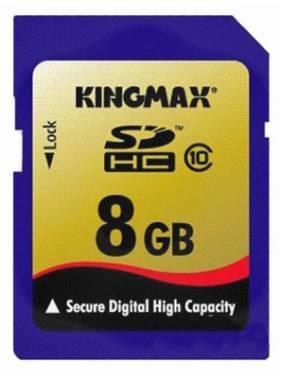 Карта памяти 8Gb Kingmax SDHC