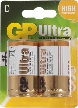 Батарея D GP Ultra Alkaline 13AU LR20 (2шт)