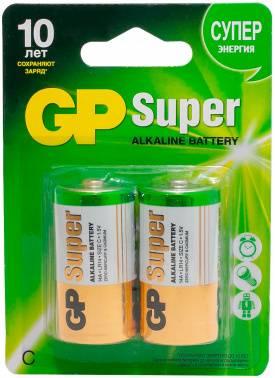 Батарея C GP Super Alkaline 14A LR14 (2шт)
