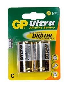 Батарея C GP Ultra Alkaline 14AU LR14 (2шт)
