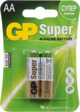 Батарея AA GP Super Alkaline 15A LR6 (2шт)