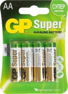 Батарея AA GP Super Alkaline 15A LR6 (4шт)