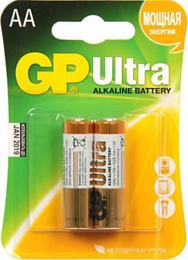 Батарея AA GP Ultra Alkaline 15AU LR6 (2шт)