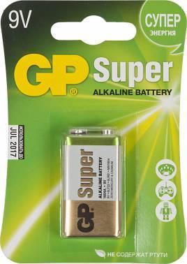 Батарея 9V GP Super Alkaline 1604A 6LR61 (1шт)