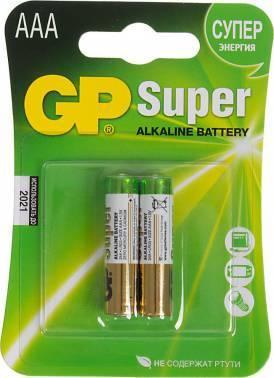 Батарея AAA GP Super Alkaline 24A LR03 (2шт)
