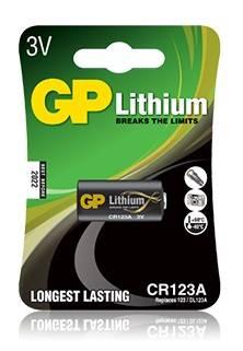 Батарея CR123A GP Lithium CR123A (1шт. уп)