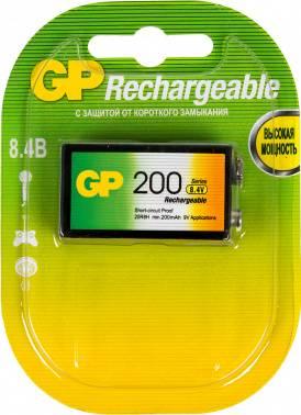 Аккумулятор GP 20R8H 9V NiMH 200mAh (1шт) (плохая упаковка)