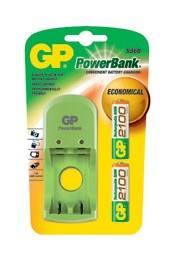 Аккумулятор + зарядное устройство AA GP PowerBank PB360GS210RA-2UE2 (2шт. уп) - фото 1