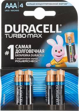 Батарея AAA Duracell Turbo MAX LR03-4BL (4шт)