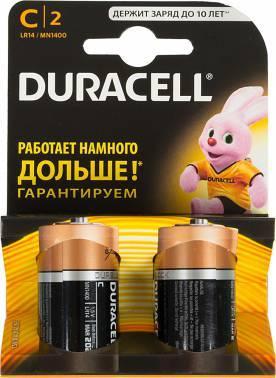 Батарея C Duracell Basic LR14-2BL (2шт)