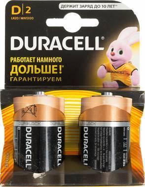 Батарея D Duracell Basic LR20-2BL (2шт)