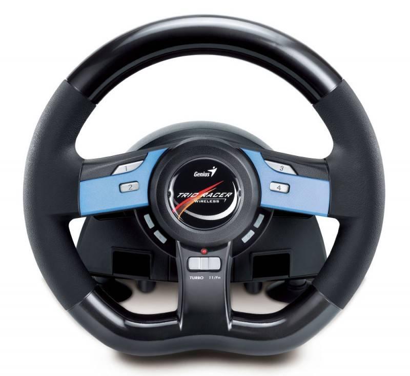 Руль+педали беспроводной Genius Wireless Trio Racer - фото 2