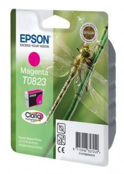 Картридж струйный Epson T0823 C13T11234A10 пурпурный