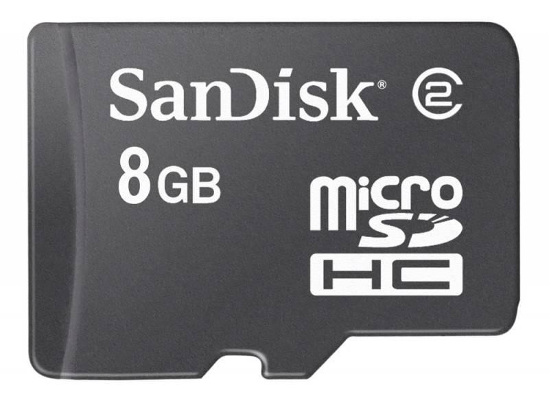 Карта памяти microSDHC 8Gb Sandisk SDSDQB-8192-E11 - фото 1