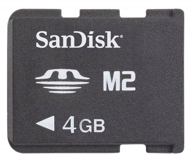 Карта памяти MS micro M2 4Gb Sandisk SDMSM2-004G-E11M - фото 1