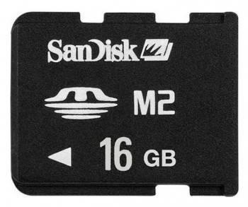 Карта памяти MS micro M2 16Gb Sandisk SDMSM2-016G-E11M