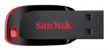 Флеш диск 4Gb Sandisk Cruzer Blade USB2.0 черный / красный