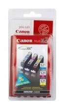 Картридж Canon CLI-521 голубой/пурпурный/желтый (2934b010)