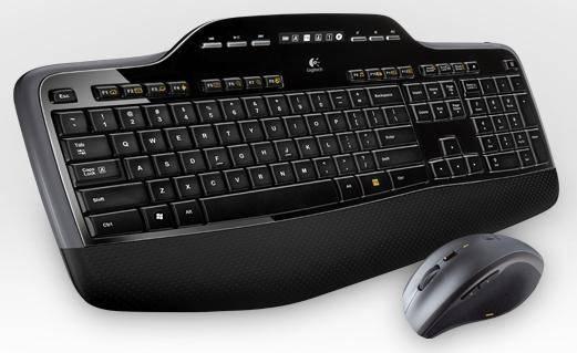 Комплект клавиатура+мышь Logitech MK710 черный/серебристый - фото 2
