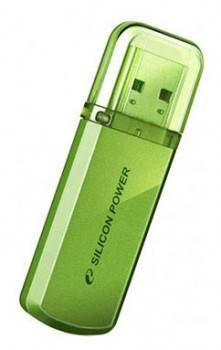 Флеш диск Silicon Power Helios 101 4ГБ USB2.0 зеленый