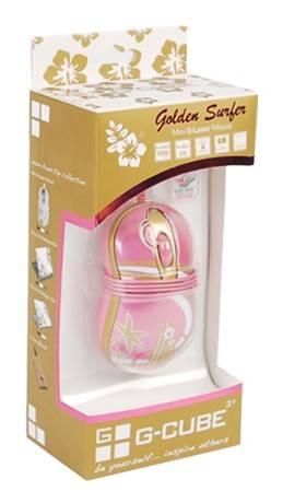 Мышь G-Cube GLA-6SF розовый/золотой - фото 4