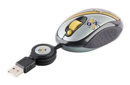 Мышь G-Cube GLR-20RR серый/серебристый - фото 1