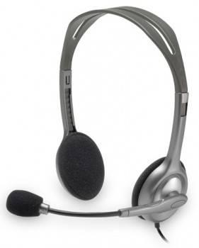 Наушники с микрофоном Logitech Stereo H110 серебристый (981-000271)