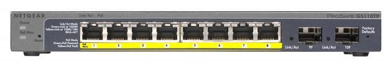 Коммутатор управляемый NetGear GS110TP-100EUS (GS110TP-100EUS) - фото 1