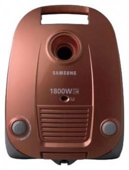 Пылесос Samsung SC4181 красный, мощность 1800Вт, уборка: сухая, объем пылесборника 3л, мощность всасывания 350Вт, регулировка мощности на корпусе, длина шнура 5м