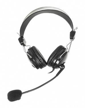 Наушники с микрофоном A4 HS-7P черный