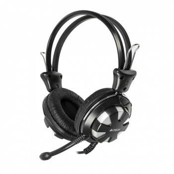 Наушники с микрофоном A4 HS-28 серебристый/черный (HS-28 (SILVER BLACK))