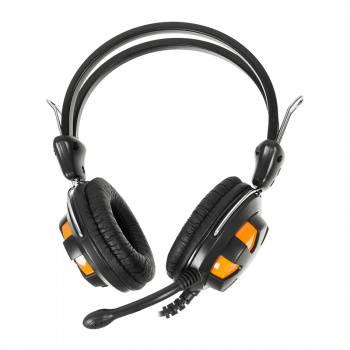 Наушники с микрофоном A4 HS-28 оранжевый/черный (HS-28 (ORANGE BLACK))