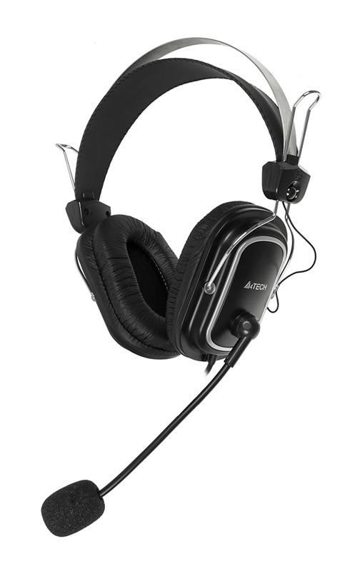 Наушники с микрофоном A4 HS-50 черный - фото 1