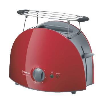 Тостер Bosch TAT 6104 красный/серый - фото 1