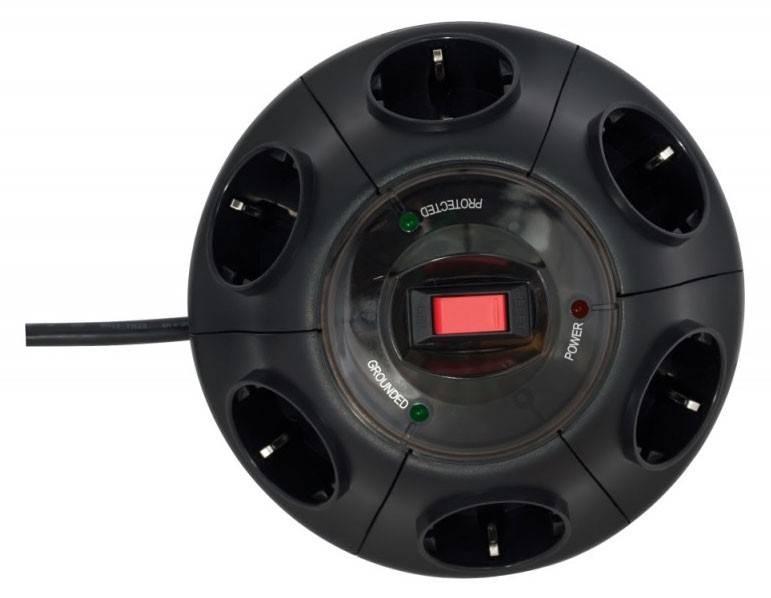 Сетевой фильтр Ippon BU-232B 3м черный - фото 2