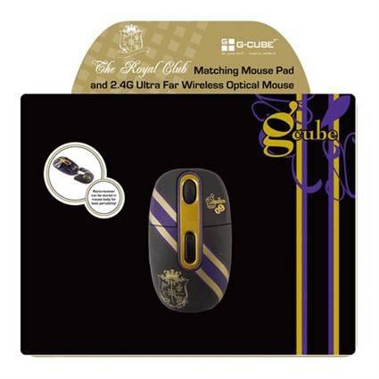 Мышь G-Cube Royal Club G7MR-1020RG черный/золотой - фото 4