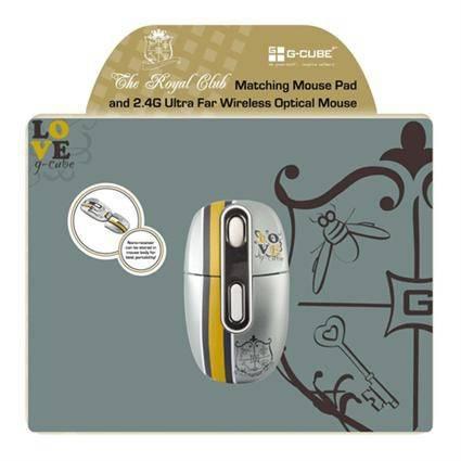 Мышь G-Cube Royal Club G7MR-1020RR серый/золотой - фото 4