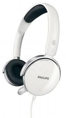 Наушники с микрофоном Philips SHM7110U/10 белый - фото 1