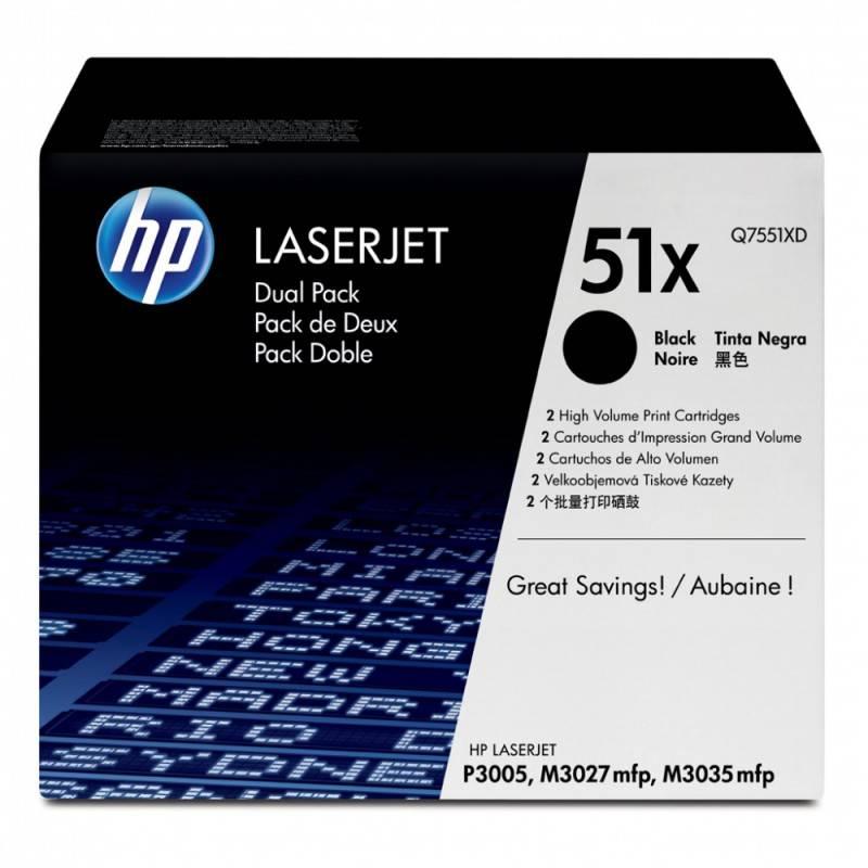 Тонер Картридж HP Q7551XD черный - фото 1