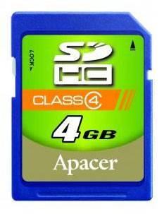 Карта памяти SDHC 32Gb Class4 Apacer AP32GSDHC4-R