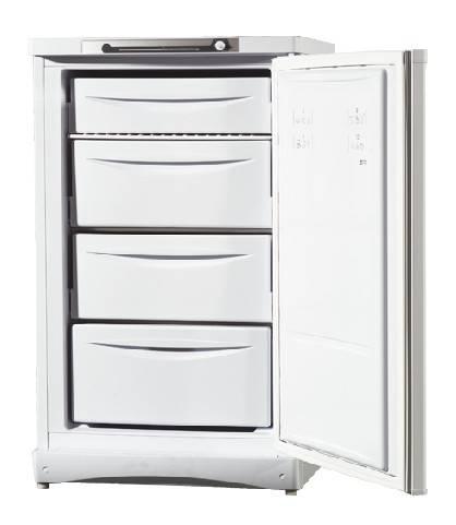 Морозильная камера Indesit SFR100 белый, объем 142л, система размораживания ручная, количество ящиков 1, количество полок 3 - фото 1