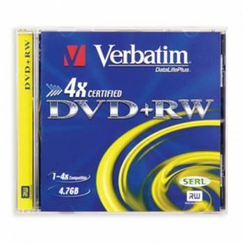 Диск DVD+RW Verbatim 4.7Gb 4x (1шт) (43246 / 43228 / 43229)