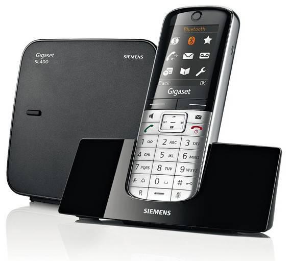 Телефон Gigaset Gigaset SL400 серебристый/черный - фото 1
