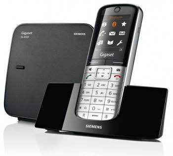 Телефон Gigaset Gigaset SL400 серебристый / черный