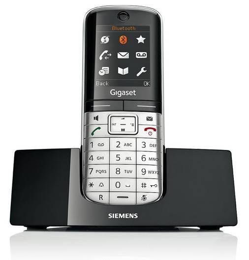 Телефон Gigaset Gigaset SL400 серебристый/черный - фото 2