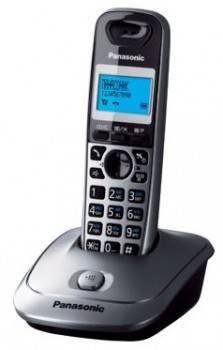 Телефон Panasonic KX-TG2511RUM серый металлик/черный