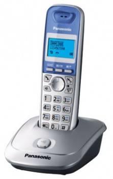 Телефон Panasonic KX-TG2511RUS серебристый/голубой