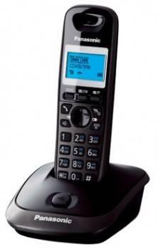 Телефон Panasonic KX-TG2511RUT темно-серый металлик/черный