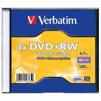 Диск DVD+RW Verbatim 4.7Gb 4x (1шт) (43228 / 43229 / 43246)